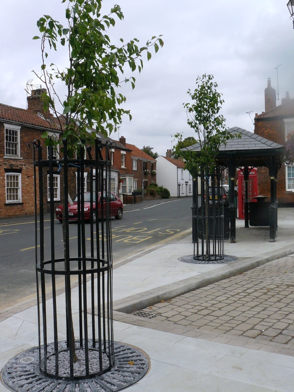 Trees returned to Market Place at last!
